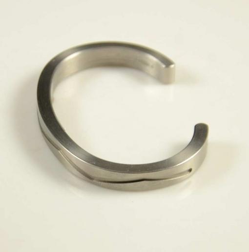 Pat Pruitt Narrow Stainless Steel Bracelet
