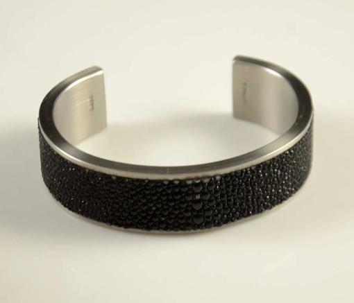 Pat Pruitt Stainless Steel Stingray Bracelet