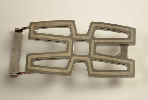 Pat Pruitt Stainless Steel Buckle