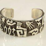 Kee Yazzie Silver Overlay Bracelet