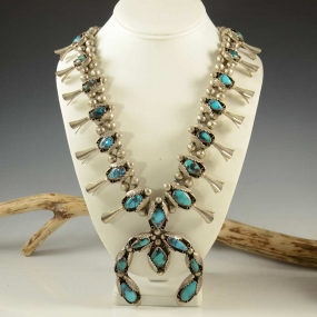 Bisbee Squash Blossom Necklace Vintage