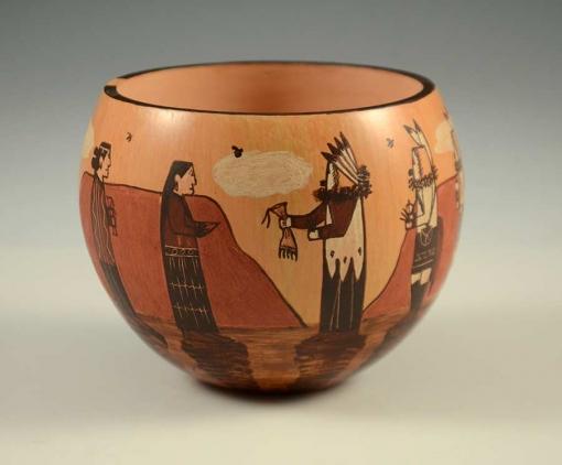 Ida Sahmie Yei Pottery Hopi Navajo