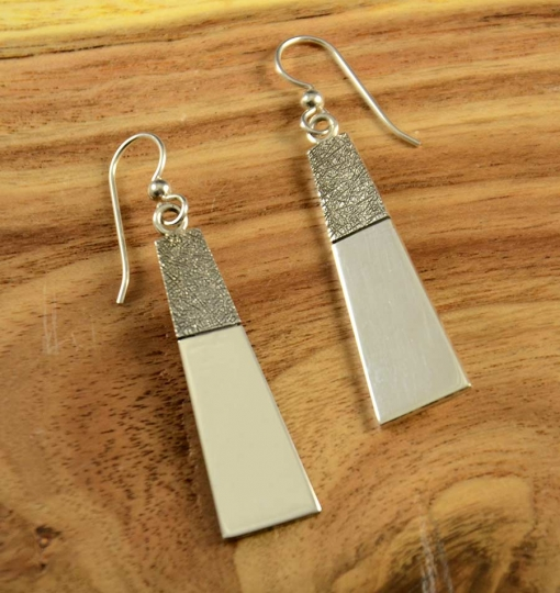 Craig Agoodie Navajo Silver Earrings