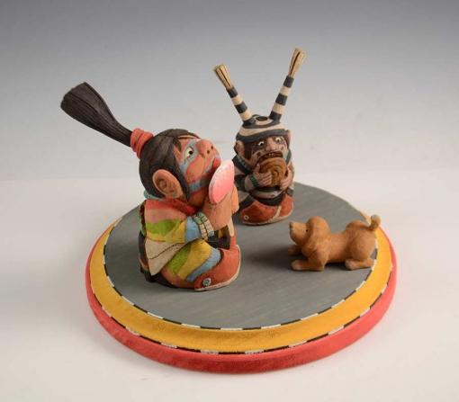 Ted Pavatea Hopi Clown Kachinas