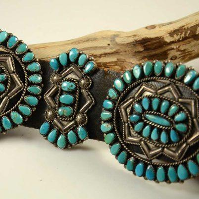 Valentino Matilda Banteah Turquoise Concho Belt Zuni
