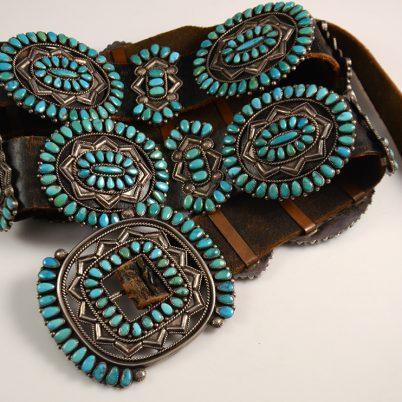 Valentino Matilda Banteah Turquoise Concho Belt