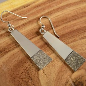 Craig Agoodie Silver Navajo Earrings