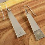Craig Agoodie Silver Navajo Earrings
