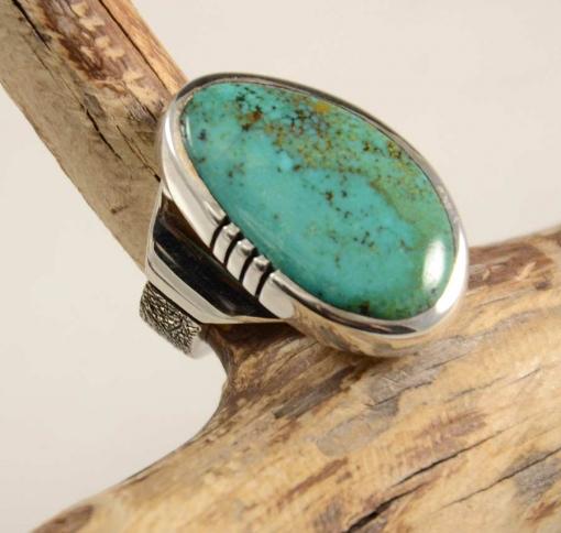 Craig Agoodie Navajo Silver Turquoise Ring