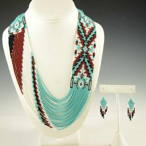Beaded Necklace Earrings Set Rena Charles