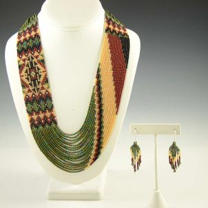 Beaded Necklace Earrings Set Rena Charles
