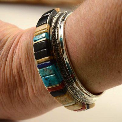 Edison Cummings Navajo Inlaid Bracelet