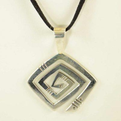 Silver Navajo Pendant Kee Yazzie