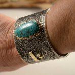 Edison Cummings Navajo Bracelet Lone Mountain Turquoise