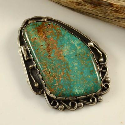 Silver Royston Turquoise Pendant