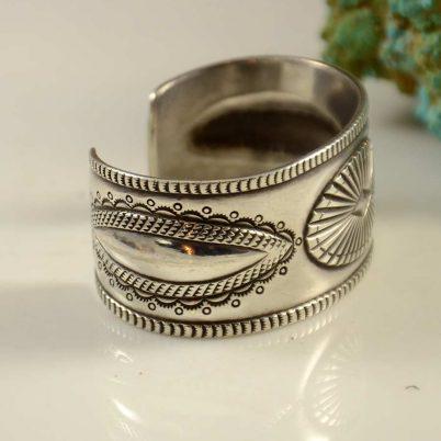 Perry Shorty Ingot Navajo Silver Bracelet