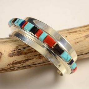 Charles Loloma Silver 14kt Gold Hopi Bracelet