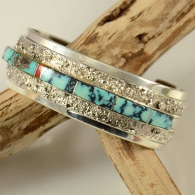 Richard Begay Inlaid Navajo Bracelet
