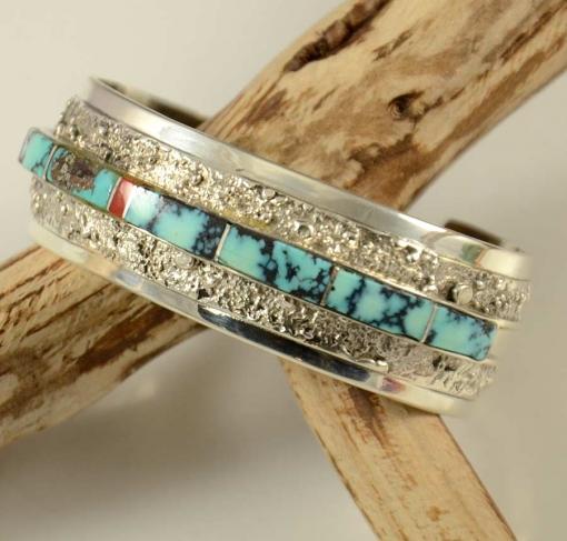 Richard Begay Inlaid Navajo Bracelet