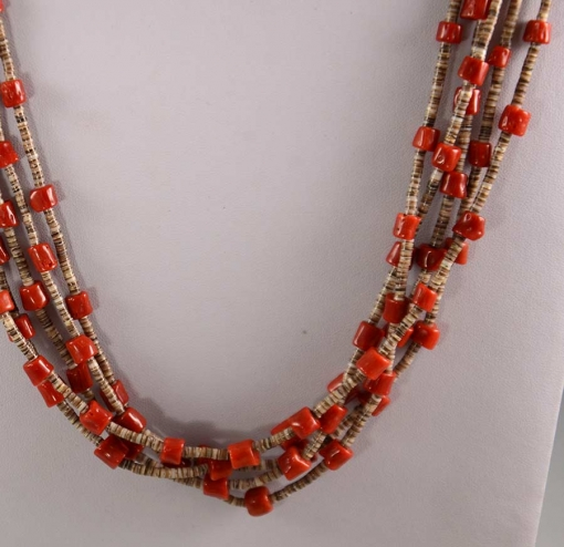 Coral Shell Heishi Necklace
