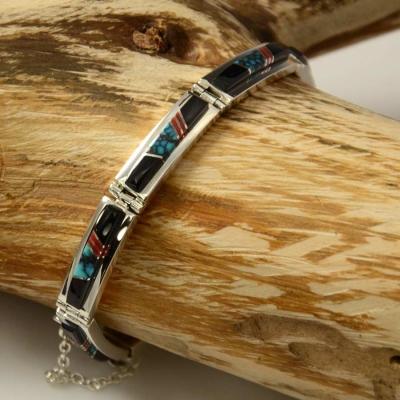 Earl Plummer Inlaid Bracelet Navajo