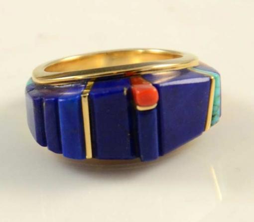 Charles Loloma 18kt Gold Hopi Ring