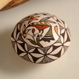 Diane Lewis Miniature Acoma Pot Hummingbird