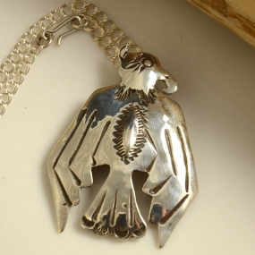 Greg Lewis Silver Eagle Pendant