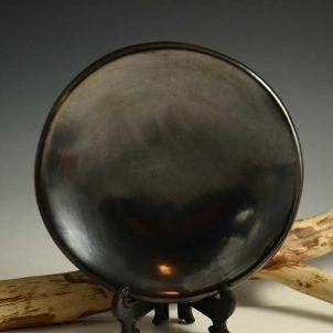 Maria Martinez Black Plate San Ildefonso Pottery