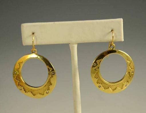 Dina Huntinghorse 18kt Gold Dangle Earrings
