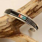 Albert Nells Narrow Inlay Navajo Bracelet