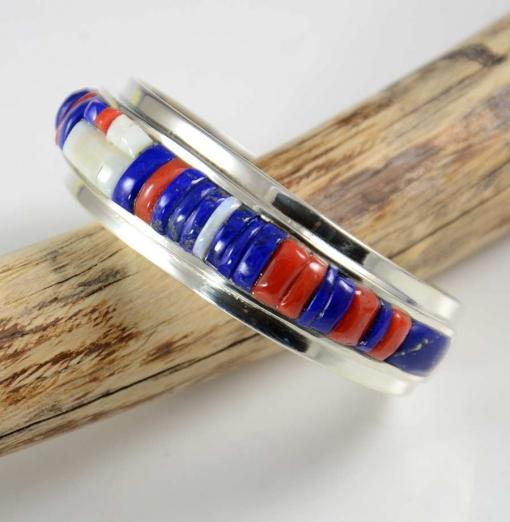 Doug Nava Multi Stone Silver Bracelet
