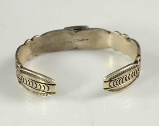 Don Platero Navajo Silver Bracelet Kingman Turquoise