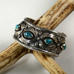 Carl Luthey Lone Mountain Turquoise Bracelet