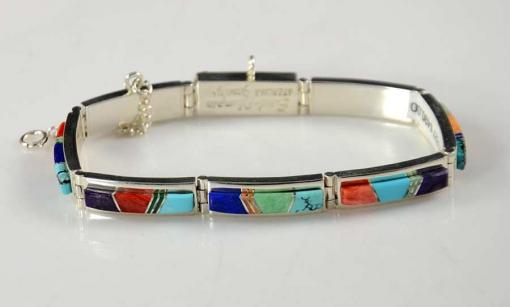 Earl Plummer Multi Stone Navajo Bracelet