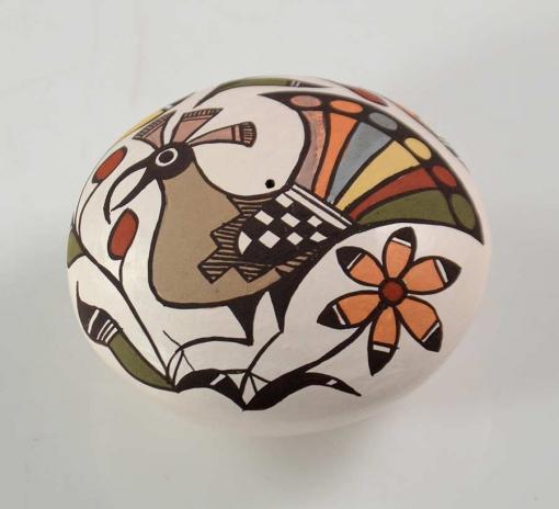 Diane Lewis Miniature Acoma Pot Peacock