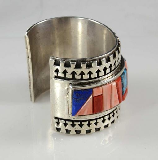 Inlaid Multi Stone Navajo Bracelet