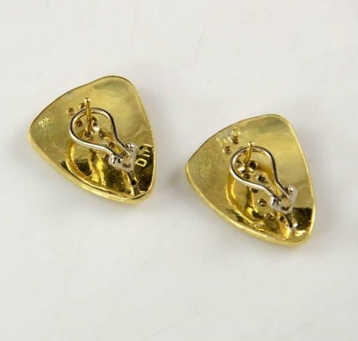 Dina Huntinghorse 18kt Gold Diamond Earrings