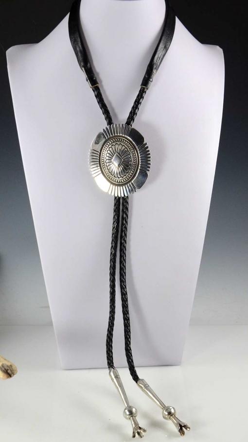 Handmade Navajo Silver Bolo Tie Nez