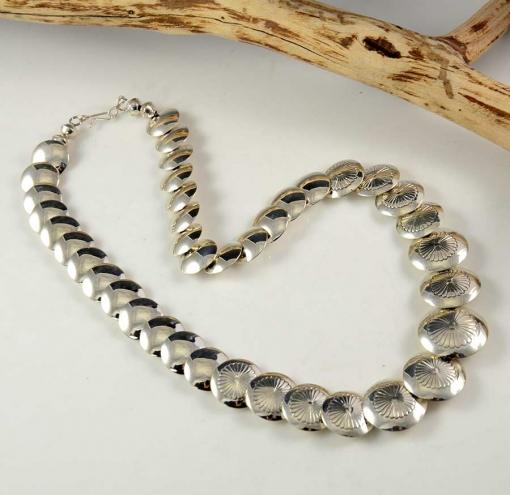 Ina Nez Silver Navajo Necklace