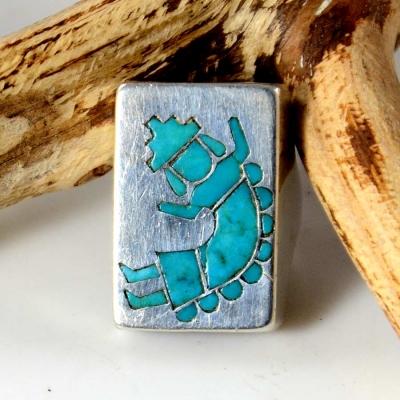 Vintage Zuni Silver Turquoise Ring Frank Vacit