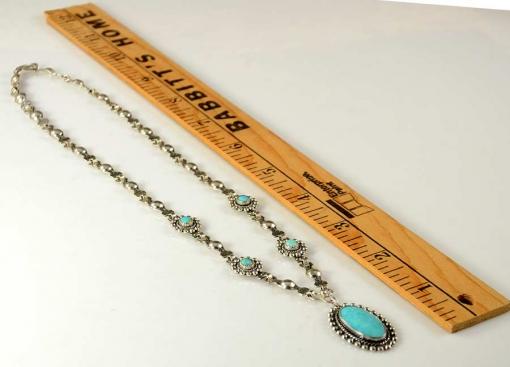 Vintage Silver Turquoise Necklace Juan Pedro Garcia
