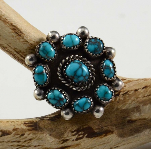 Silver Lone Mountain Turquoise Ring