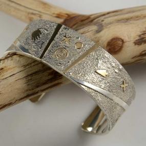 Cody Hunter Navajo Cuff Gold Silver
