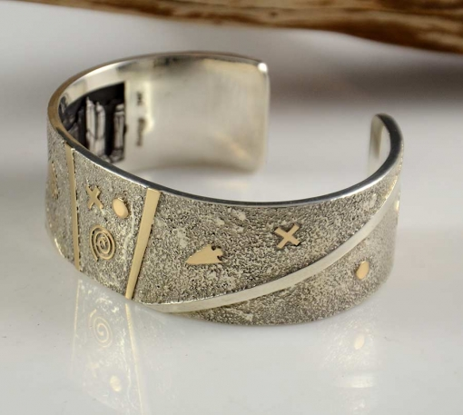 Cody Hunter Navajo Cuff Gold Silver