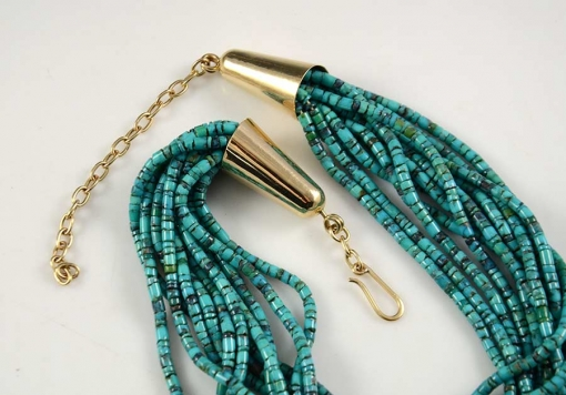 Cheryl Yestewa Indian Mountain Turquoise Necklace