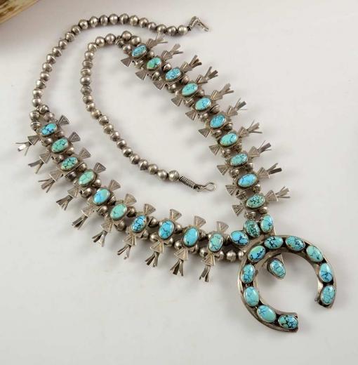 Vintage Squash Blossom Necklace Navajo