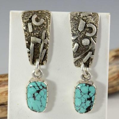 Vernon Begaye Navajo Earrings Turquoise